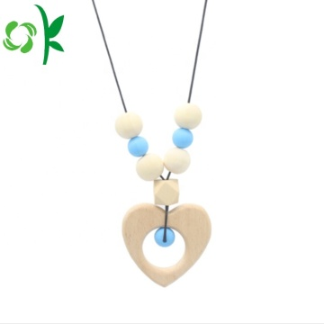 Fashion Baby Silicone Teether Necklace Chew Bead