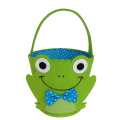 Green colour frog Easter candy gift basket