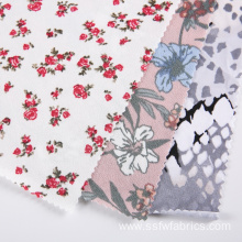 Crepe Logo Custom Floral Fabric Digital Printing