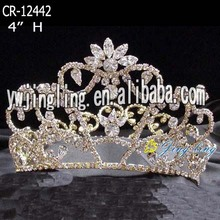 Rhinestone Pageant Flower King Crowns For Banquet