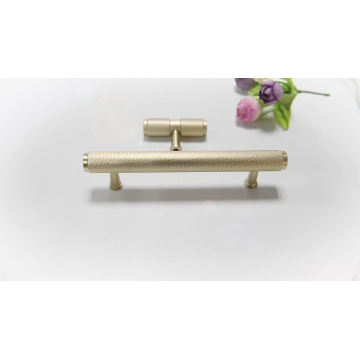 Gold Knurled Aluminum Knurled cabinet handles
