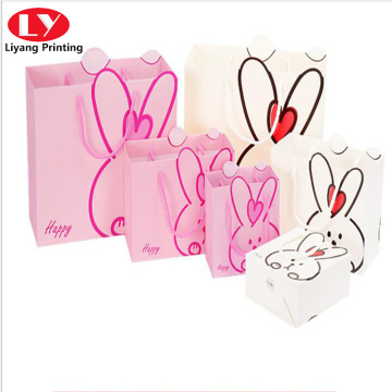 cute rabbit gift bag for children or girls