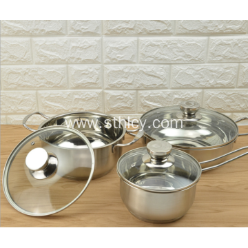 3 Pcs Stainless Steel Exquisite Cookware Set