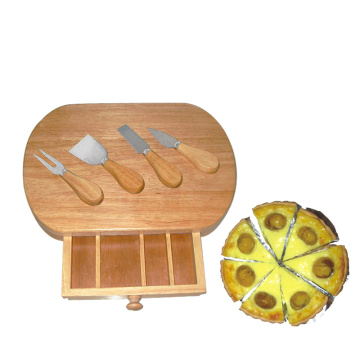 Rectangle Shape Fillet 4pcs knives Cheese Board Set