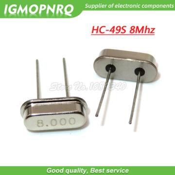 20pcs/lot HC-49S 8M 8MHz DIP Passive Quartz crystal resonator HC-49S New products and ROHS 49s Crystal Oscillator