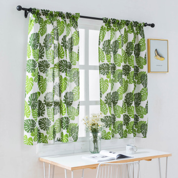 Polyester Valance Curtains for Bedroom Colored Strip Semi-Blackout Window Curtain Valances Short Curtains Window Drape 100*130CM