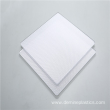 Light diffusion clear prism sheet polycarbonate
