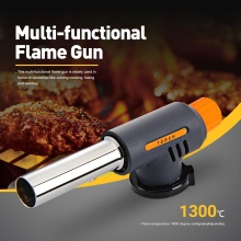 Portable Kitchen Lighter Gas Torch Butane Burner Auto Ignition Camping Welding Flame Thrower For Lighting Heating Picnic Tools
