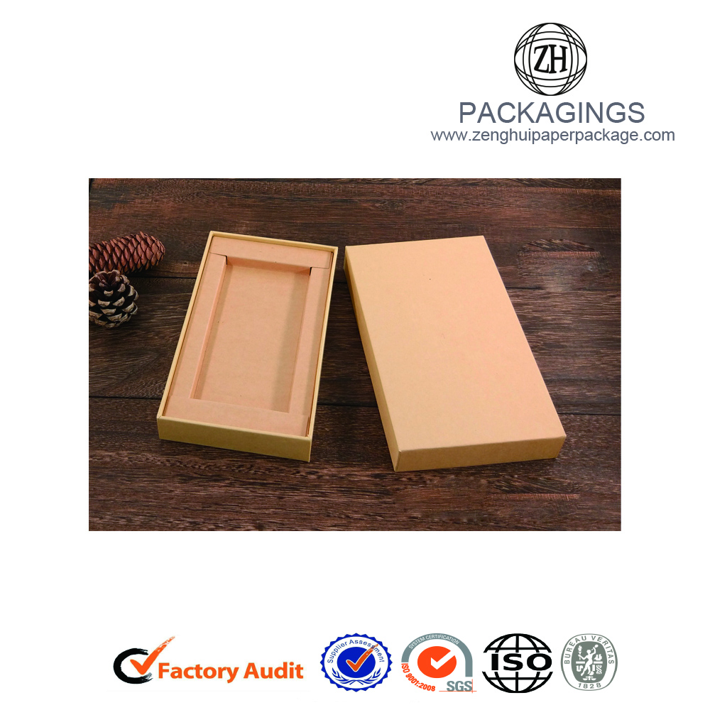 Paper cardboard cell phone casebox with lid