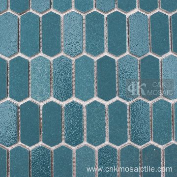 Picket Glass Mosaic Swimming Pool Tiles