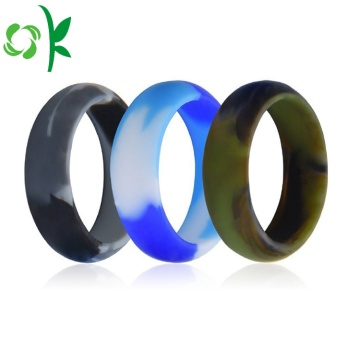 Mixing Camouflags-color Finger Ring Silicone Wedding Ring