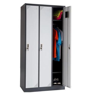 Metal three door locker for school