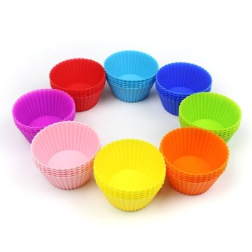 Oval Silicone Reusable Baking Cups 12pack