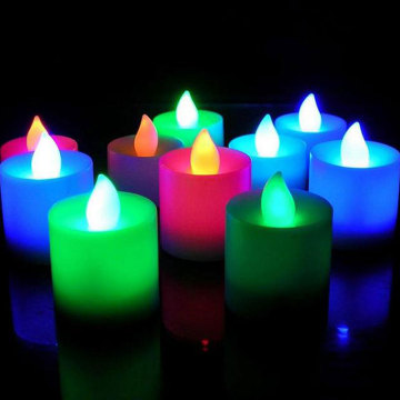 Battery operated flameless color changing led candle