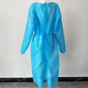 100% PP Non-woven Isolation Gown