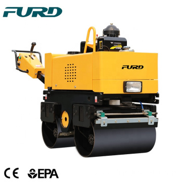 Small walking behind double drum compactor machine road roller  FYL-800C
