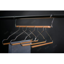 Natural Color Space Saving Wooden 4 Tier Hanger