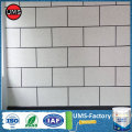 Painted wall faux brick white