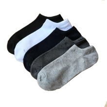 2020 New 100% Cotton Black Short Socks Men Spring Summer Thin Low - Top Short Men's Socks Size39-43 High Quality Sox 5Pairs/Lot