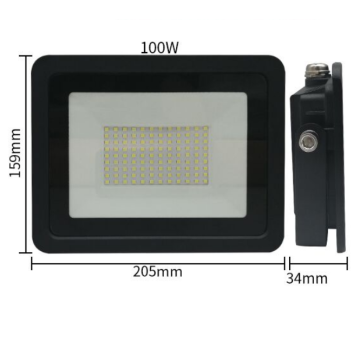 110V / 220V LED High Bay Lamp LED průmyslové osvětlení 100W Factory Workshop Warehouse Work Light Floodlight IP68