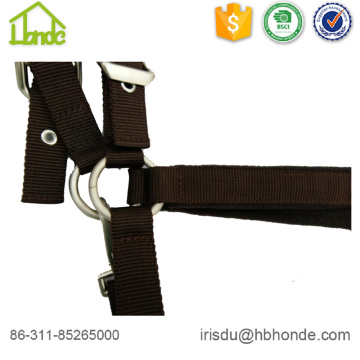 Equestrian Brown Horse Halter with Polar Fleece