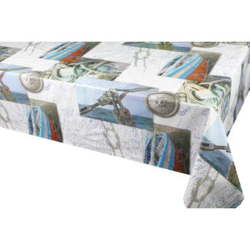 Pvc Printed fitted table covers Custom
