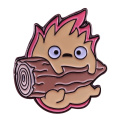 Calcifer Wood Enamel Pin Powerful fire deomon Badge Howl's Moving Castle Collection