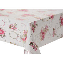 Transfer Printing Tablecloth with Silver snowflake