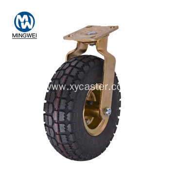 8 Inch Fixed Rubber Pneumatic Caster Wheel