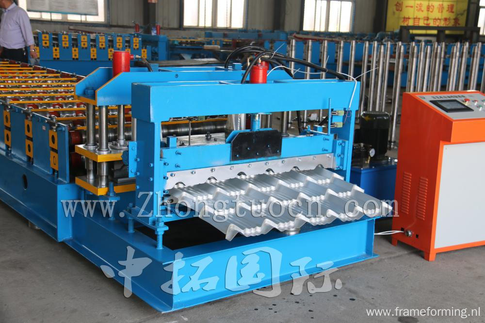Colored Steel Roofing Sheet Glazed Tiles Making Machine