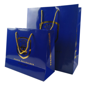 Custom luxury recycled shopping paper bag
