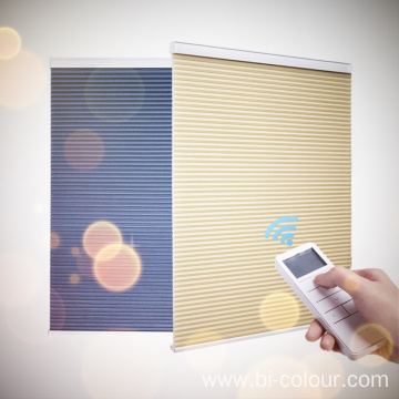 Motorized Privacy Honeycomb Cellular Blind Shades