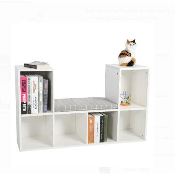 Low Long White Corner Bookcase  Furniture Design