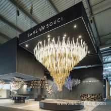 Customizable attractive exhibition hall crystal chandelier