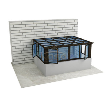 Uk Made Gable Roof Aluminum Glass Sunroom