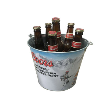 Embossed logo Ice Bucket with Portable Handle