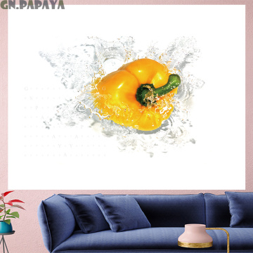 Yellow pepper Tapestry vegetables Wall Hanging personality Pop style building goblen fashion fresh style Wall Carpet home decor