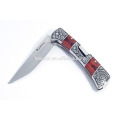 Survival knife folding wood handle pocket knifes