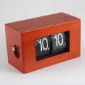 Bambus Mini Red Flip Clock