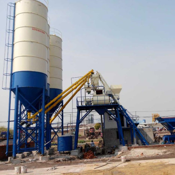 HZS belt conveyor ready mix batching plant specification