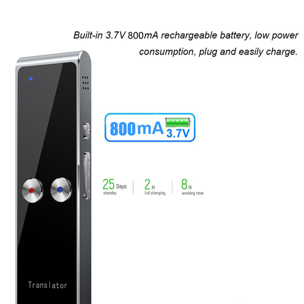 T8+ Translator Portable Multi Language AI Voice Translator Real Time Interactive Two-Way Translation Device for Travel Business