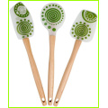 Silicone Cooking Spatula Set With Long Wooden Handle