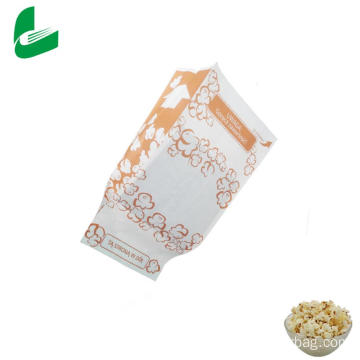 Kraft greaseproof paper microwave popcorn packaging bags