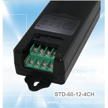 4 Splitters DC Power Supply 12VDC 60W