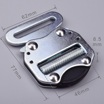 45mm Heavy Duty 300KG Metal Blue Electro Galvanized Tactical Military Cobra Belt Buckle With Black Electrophoresis