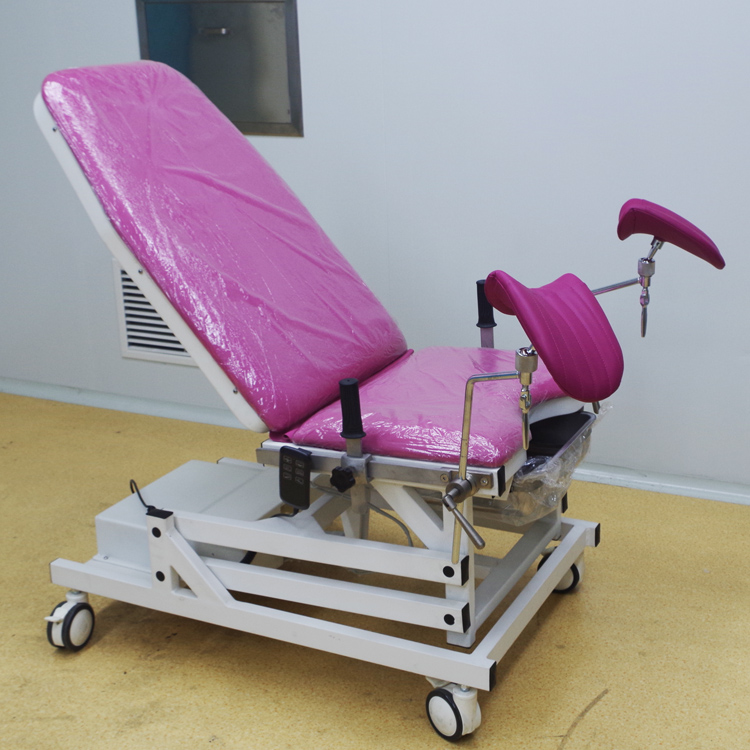 Electric gynecology examination table