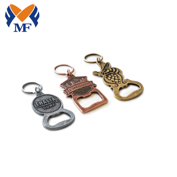 Metal Customised Bottle Opener Keychain With Logo