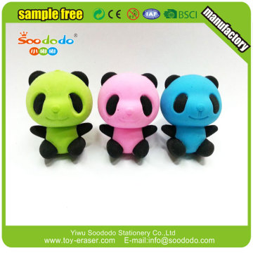 Soododo New design 3d panda shape erasers