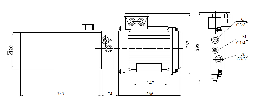 Power Unit for Dock Leveler (2)