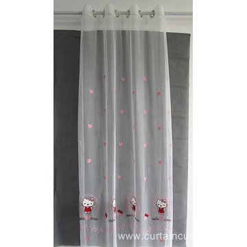 Hot Sale Window Embroidery Sheer Curtain